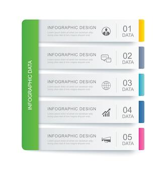 Index-vorlage für registerkarten mit dateninfografiken