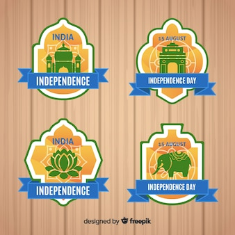 India independence day label-auflistung