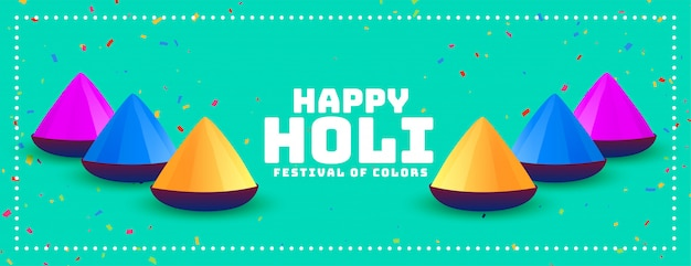 Indian happy holi festival wünscht banner