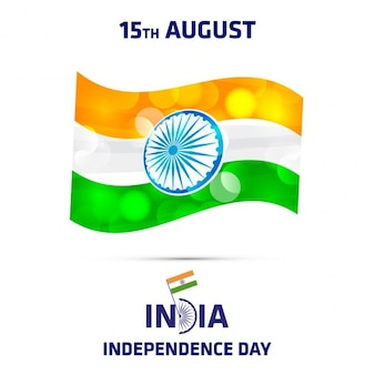 Indian independence day abstrakte flagge
