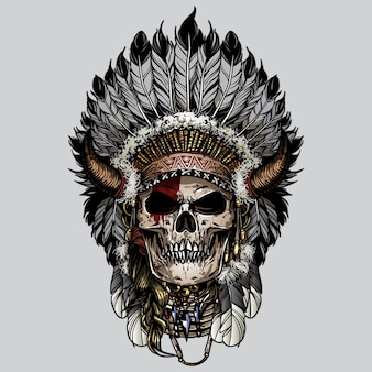 Indian navajo schädel