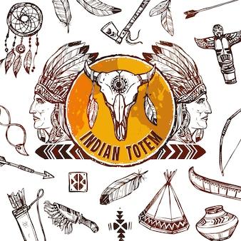 Indianer hintergrund