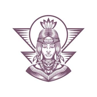 Indianer schönes mädchen