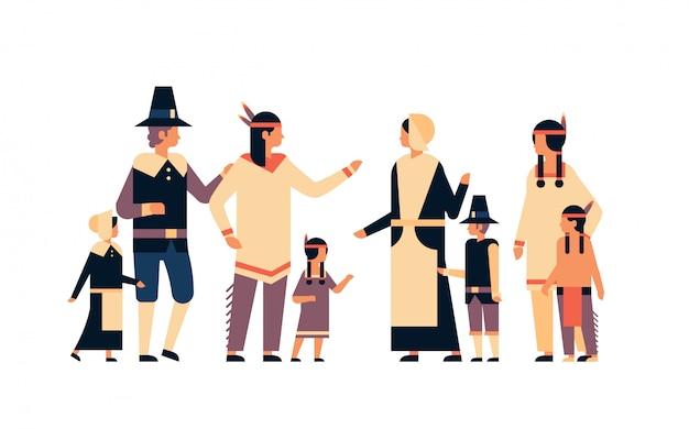 Indianische ureinwohner erntedankfest feiern banner