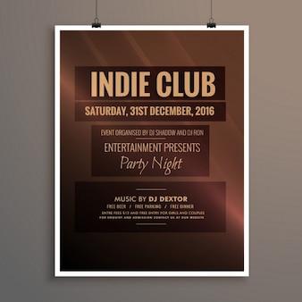 Indie club-dj-party-nacht-flyer-banner-vorlage