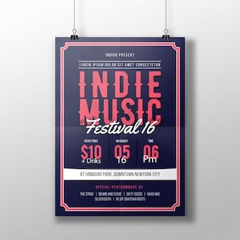 Indie musik flyer