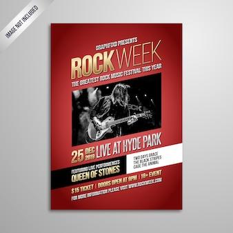 Indie rockmusik festival poster