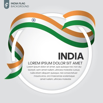 Indien-band-flag-vektor-illustration auf weißem hintergrund