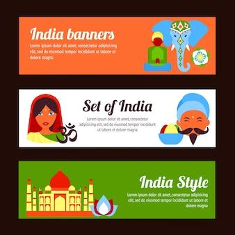 Indien Banner-Sammlung