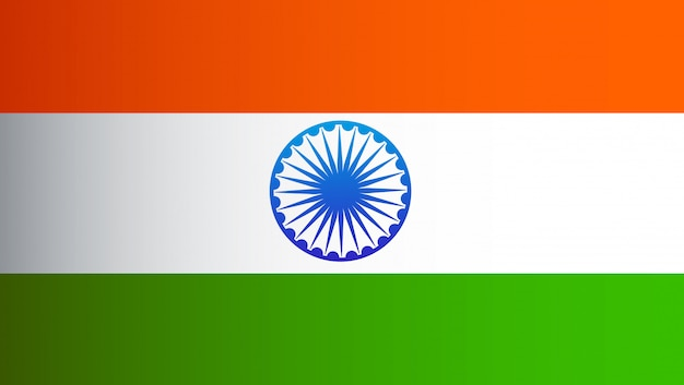 Indien flagge flache design