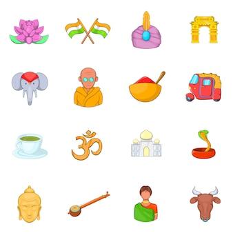 Indien-ikonen eingestellt
