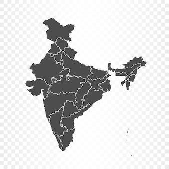 Indien-karte auf transparentem hintergrund