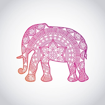 Indien Kultur Reisen Symbol