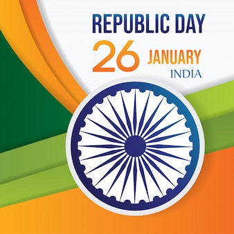 Indien republik tag hintergrund vektor