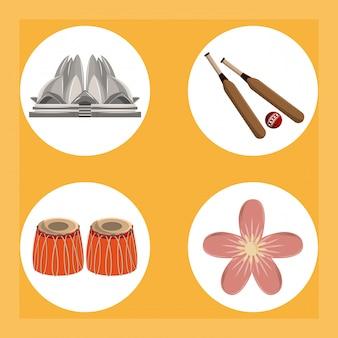 Indien runde symbole