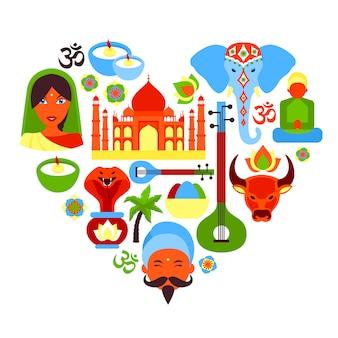 Indien-symbolherz