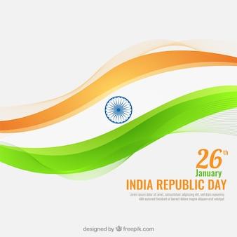Indien tag der republik wellig hintergrund