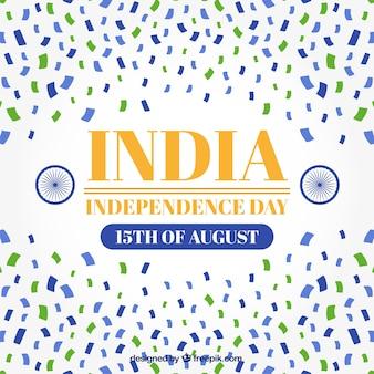 Indien unabhängigkeit tag konfetti hintergrund