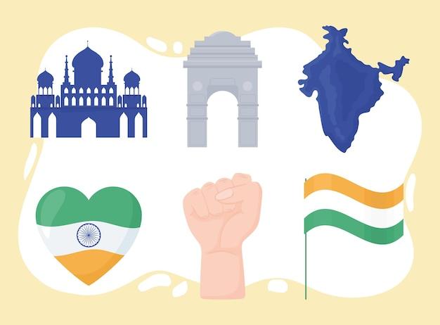 Indien-unabhängigkeitsset