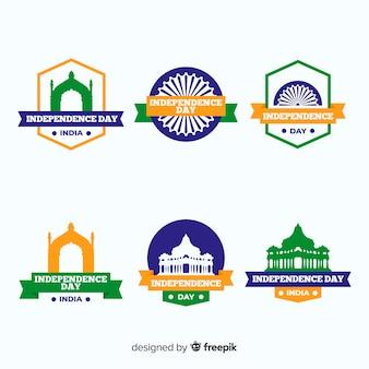 Indien unabhängigkeitstag abzeichensammlung