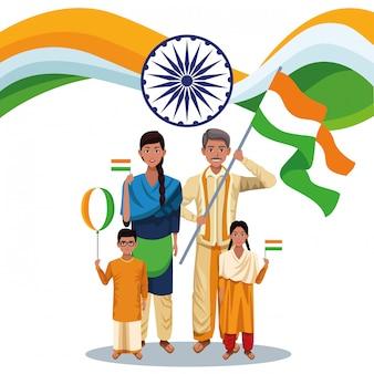 Indien-unabhängigkeitstagkarte