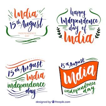 Indien-Unabhängigkeitstag wird in der Aquarellart deutlich