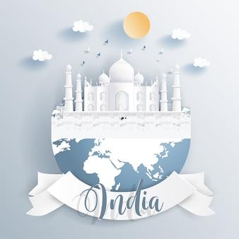 Indiens wahrzeichen auf der erde