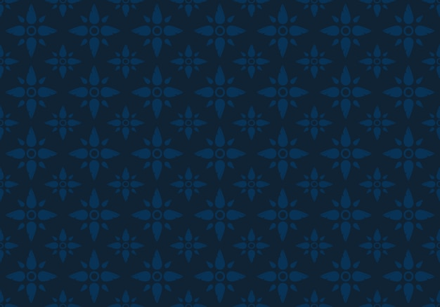 Indigo oriental thai seamless pattern