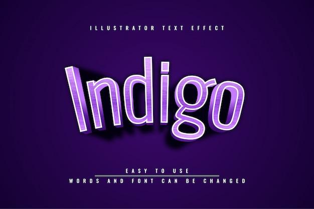 Indigo-texteffekt