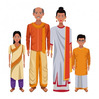 Indische asiatische orientalische kulturkarikatur
