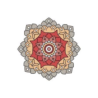Indische bunte mandalaentwurfsfeier