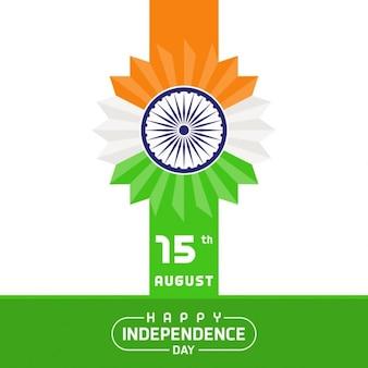 Indische flagge gemachte blumen unabhängigkeit hintergrund