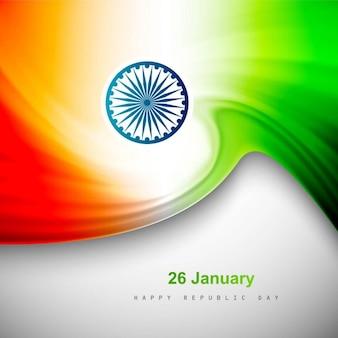 Indische flagge glänzenden hintergrund