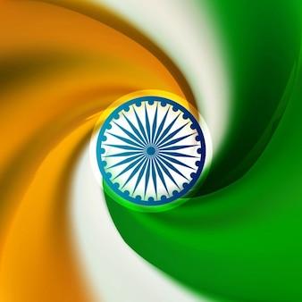 Indische flagge kreatives design