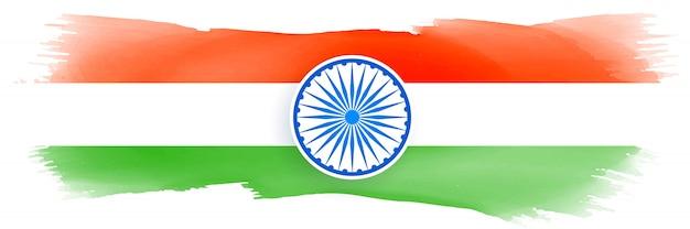 Indische flagge mit aquarell gemacht
