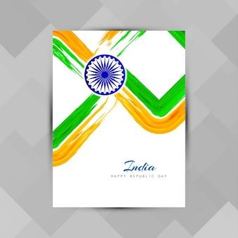 Indische flagge thema broschüre vorlage