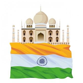Indische gebäudedenkmal-ikonenkarikatur
