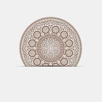 Indische hennastrauch-mandala - runde verzierung auf papier