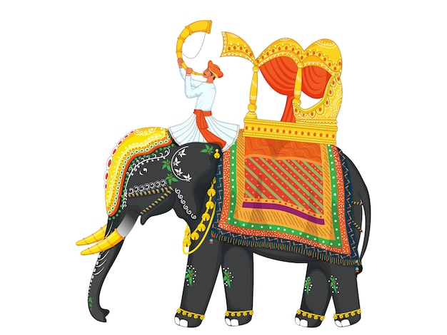 Indische hochzeitskonzeptillustration
