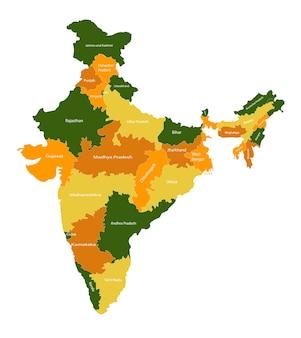 Indische karte