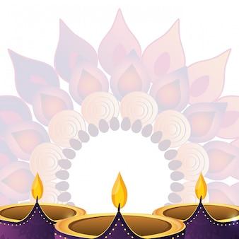 Indische kerzen dekoration