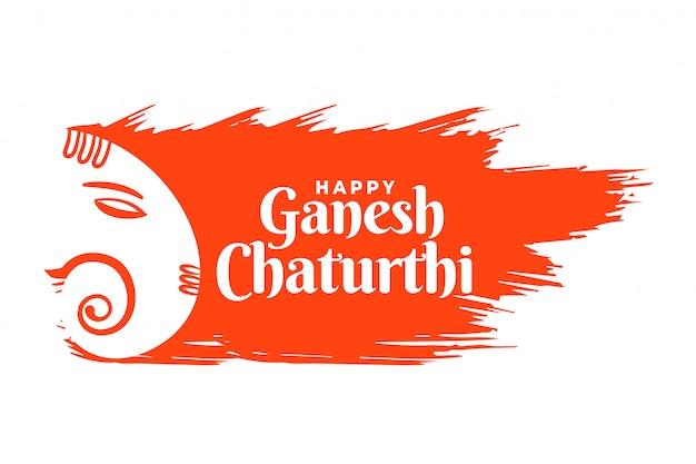 Indische lord ganesha festivalkarte im kreativen stil