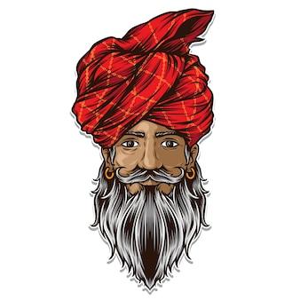 Indische männer tragen turban