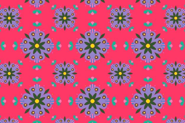 Indische mandala-blumen-vektor-muster-hintergrund