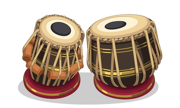 Indische musikinstrumentillustration