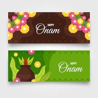 Indische onam-banner-set