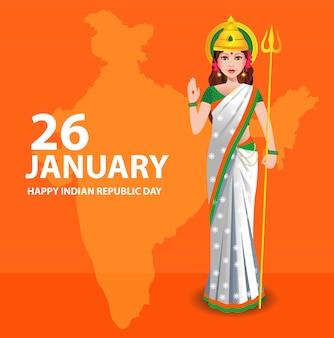 Indische republik tag wünsche