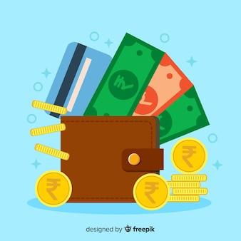 Indische rupie geldbörse