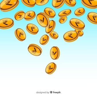 Indische rupie münzen fallen