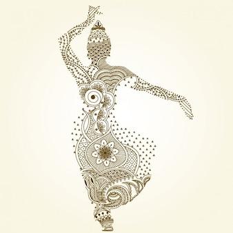 Indische tanzen pose